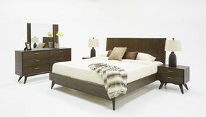 Modrest Novak Modern Dark Oak Bed
