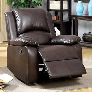 Furniture Of America Oxford Leather Recliner Chair