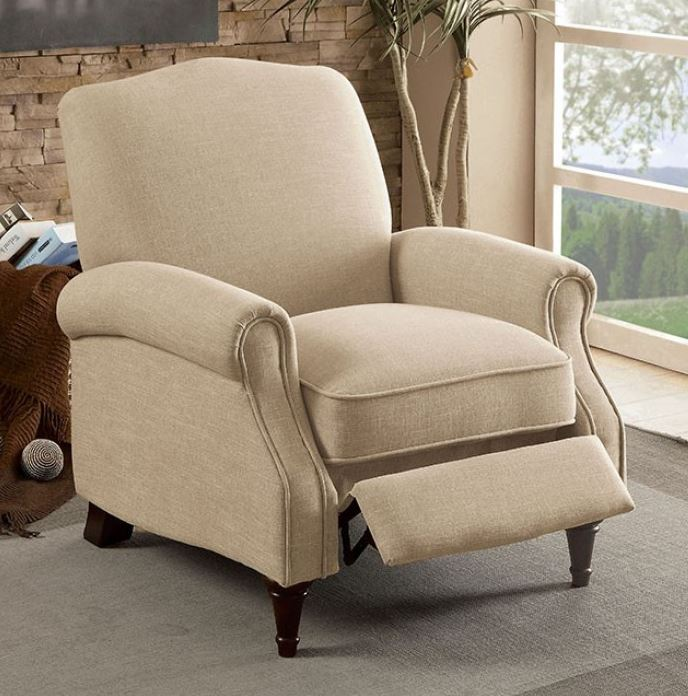 Furniture Of America Paulette Fabric Recliner Chair