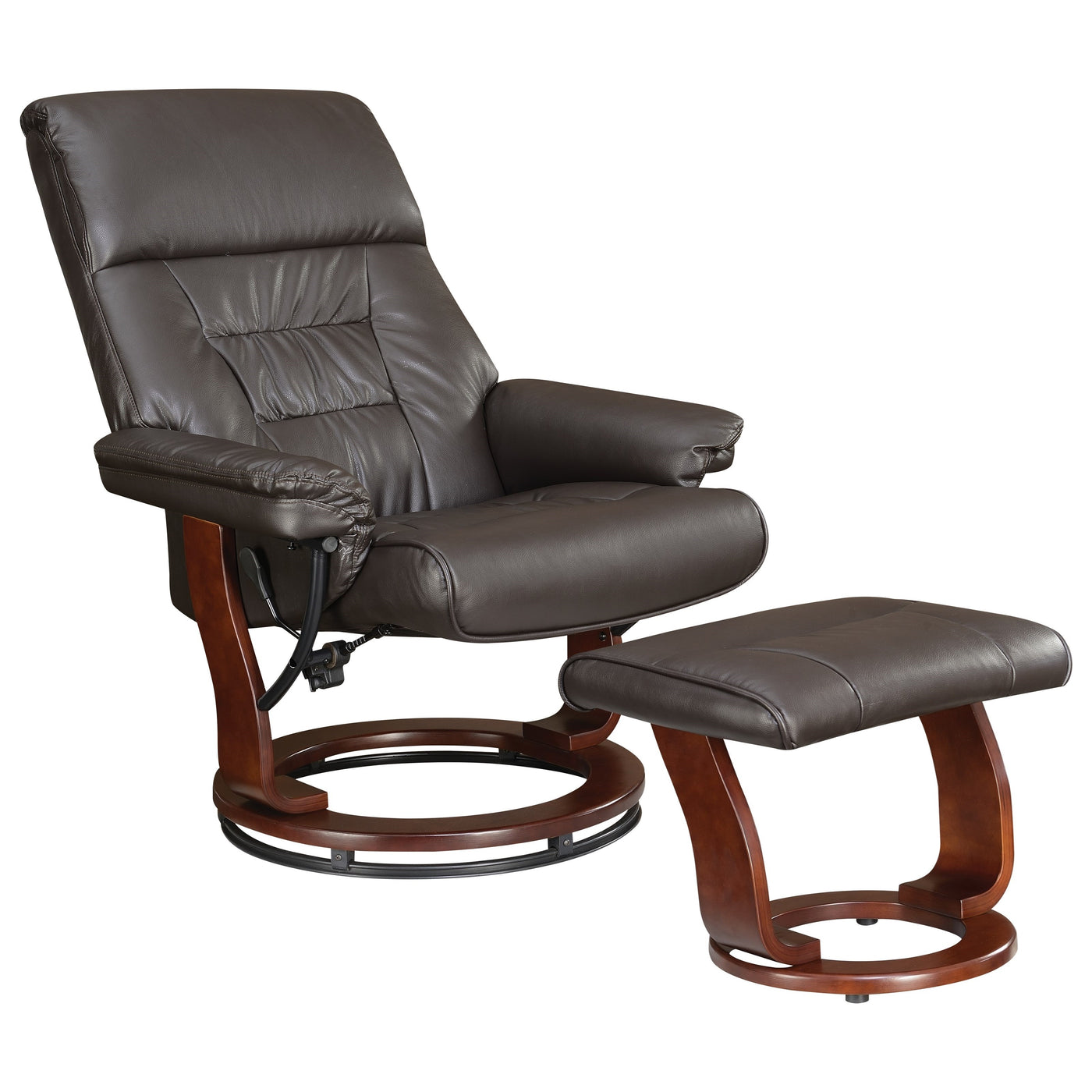 Astonishing Coaster Furniture Chocolate Glider Recliner Chair With Matching Ottoman Gmtry Best Dining Table And Chair Ideas Images Gmtryco