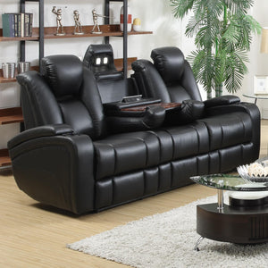 Delange Reclining Power Sofa with Adjustable Headrests