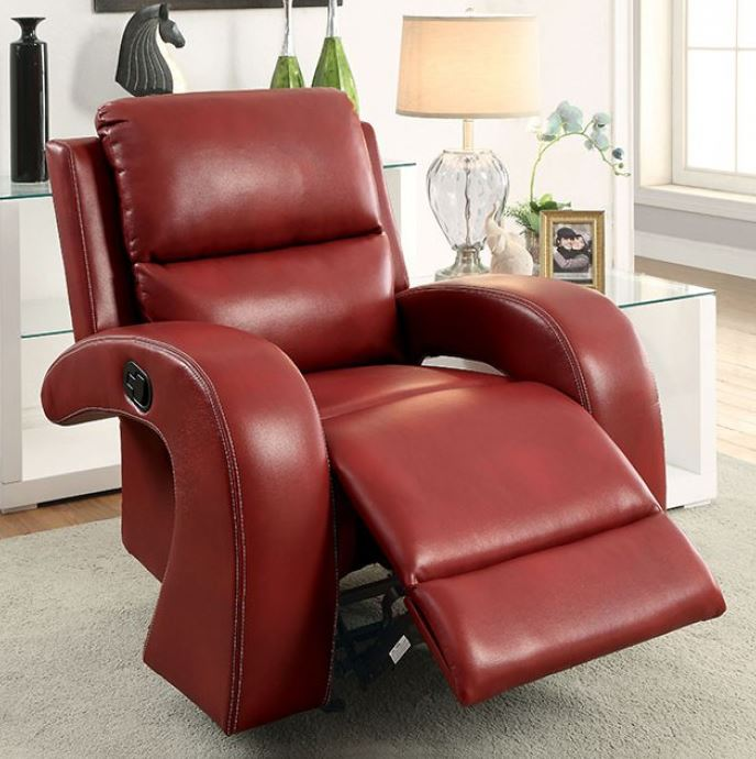 Furniture Of America Red Odette Recliner Chair