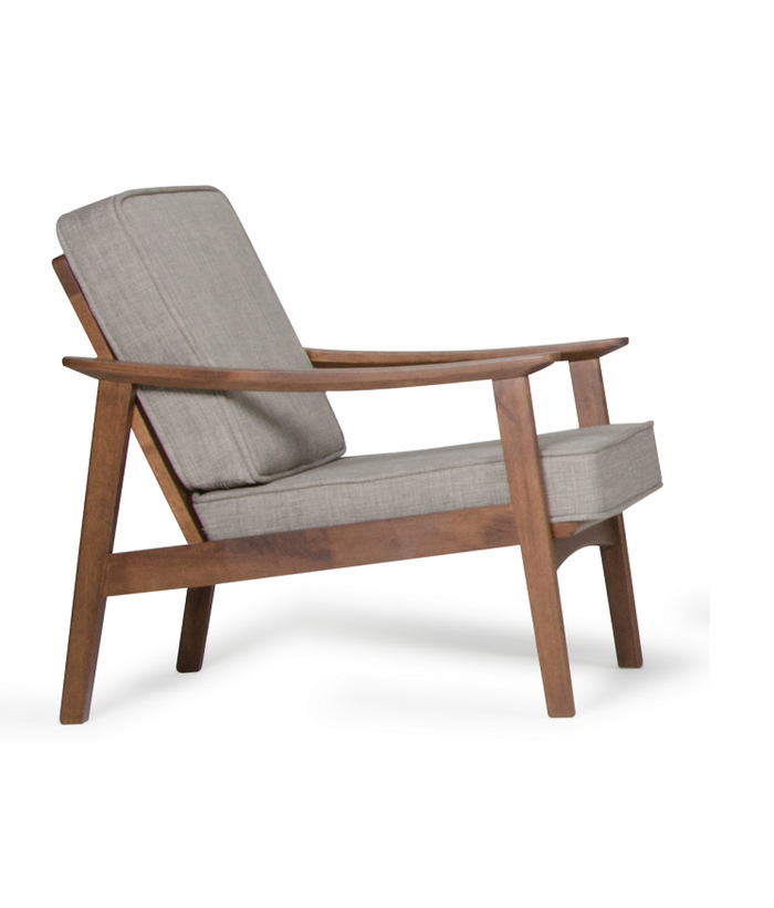 Modrest Ridge Modern Sesame & Walnut Accent Chair