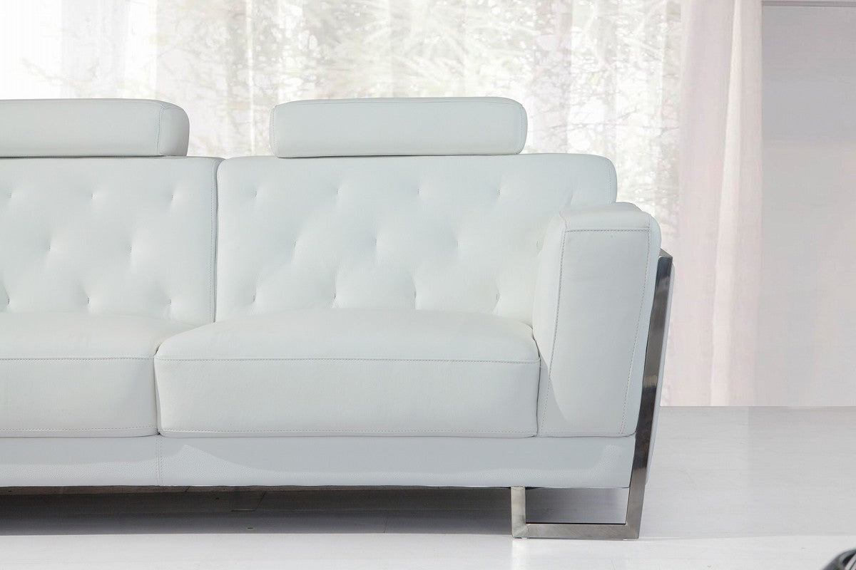 Marvelous Divani Casa Huron Modern White Leather Sofa Set Ocoug Best Dining Table And Chair Ideas Images Ocougorg
