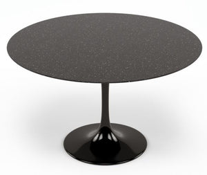 Saarinen Style Black Granite 48″ Round Dining Table