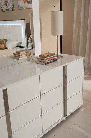 Modrest San Marino Modern Glossy White Bedroom Set