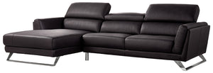 Divani Casa Doss Modern Black Leather Sectional Sofa