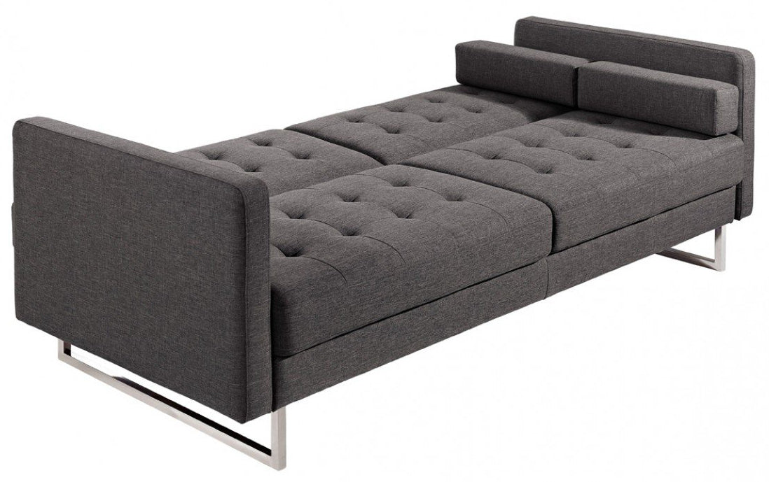 Pleasing Divani Casa Bauxite Modern Grey Fabric Sofa Bed Home Remodeling Inspirations Gresiscottssportslandcom