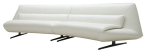 Divani Casa Beckley Modern White Leather Sofa Chair