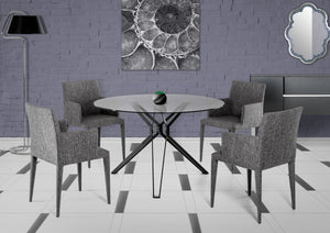 Modrest Soiree Modern Glass Round Dining Table