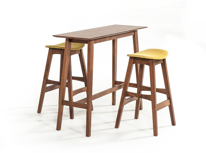 Modrest Steed Modern Walnut 3 Piece Bar Table Set