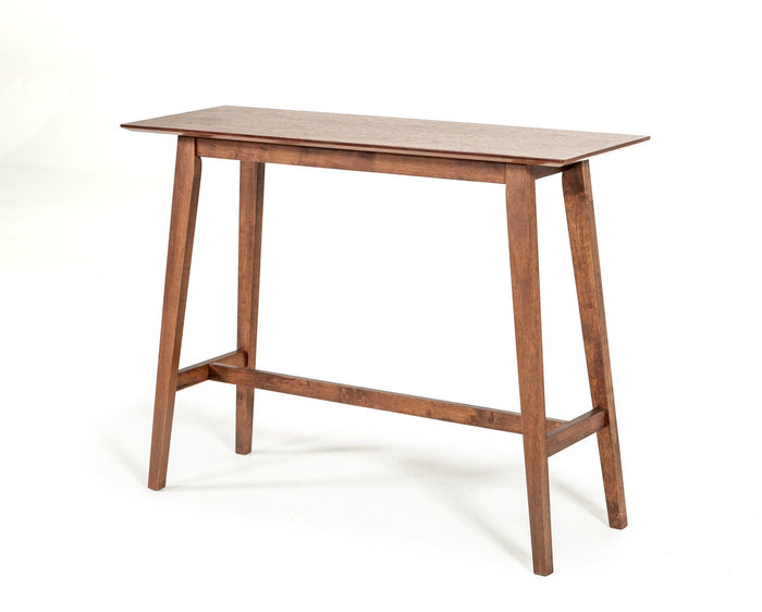 Modrest Steed Modern Walnut Square Bar Table