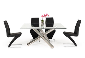Modrest Quartz Modern Square Glass Dining Table