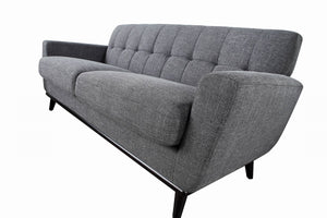 Divani Casa Corsair Modern Light Grey Fabric Sofa