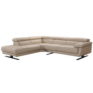 Taupe Leather Sectional Sofa