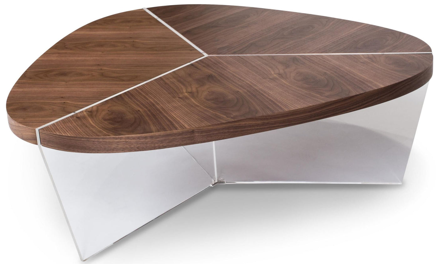 Triangle Coffee Table Wood.Aico Trance Sector Short Triangular Coffee Table Currently On Furniture Showroom Floor