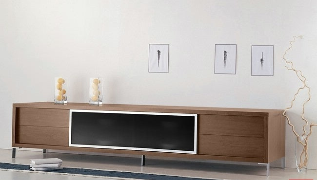 "Milo 94"" MODERN TV ENTERTAINMENT STAND * (CURRENTLY ON FURNITURE SHOWROOM FLOOR)"