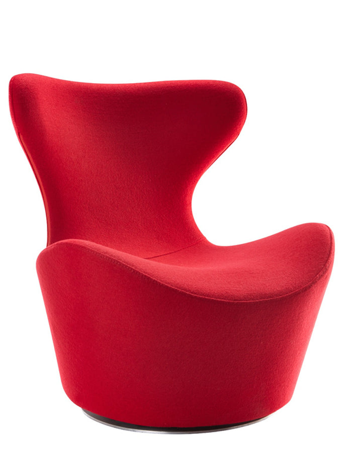 Modrest Hadrian Modern Red Fabric Accent Chair
