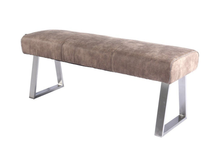 Modrest Zane Modern Brown Fabric Upholstered Dining Bench