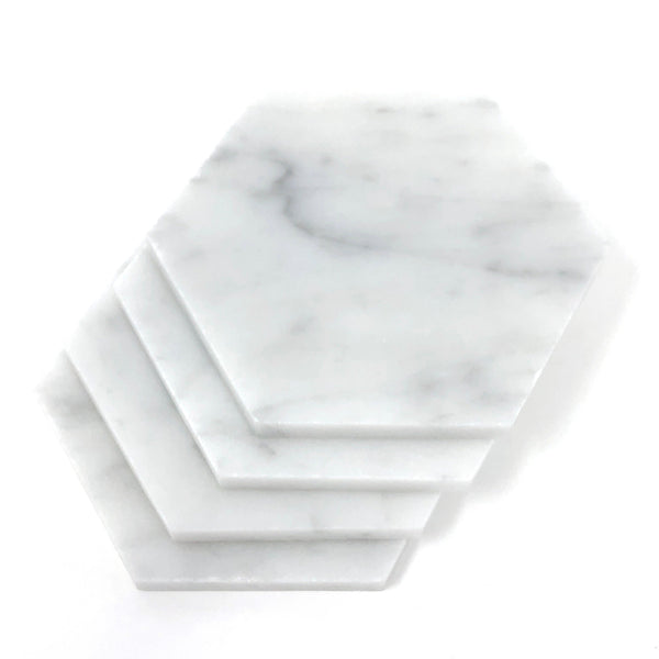 Marble Object- Large Hexagon Candle Rest/Coasters