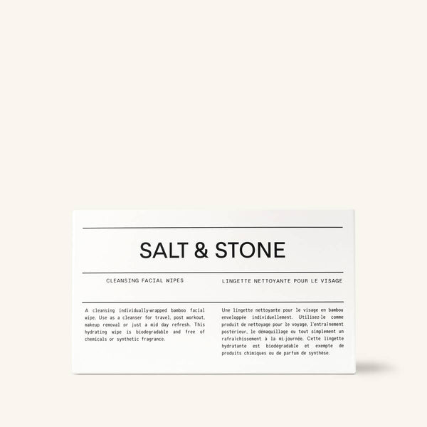 Salt & Stone // Biodegradable Bamboo Cleansing Facial Wipes