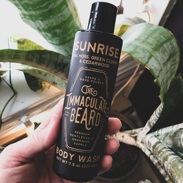 The Immaculate Beard // Body Wash, Body Lotion- Sunrise