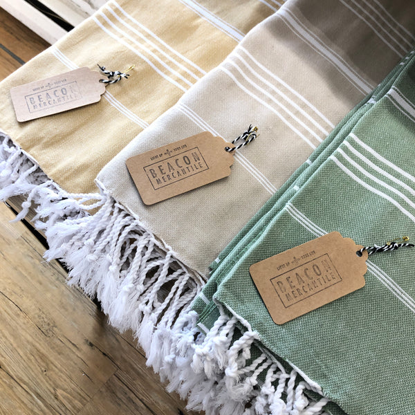 Premium Turkish Towels- Classic Stripe