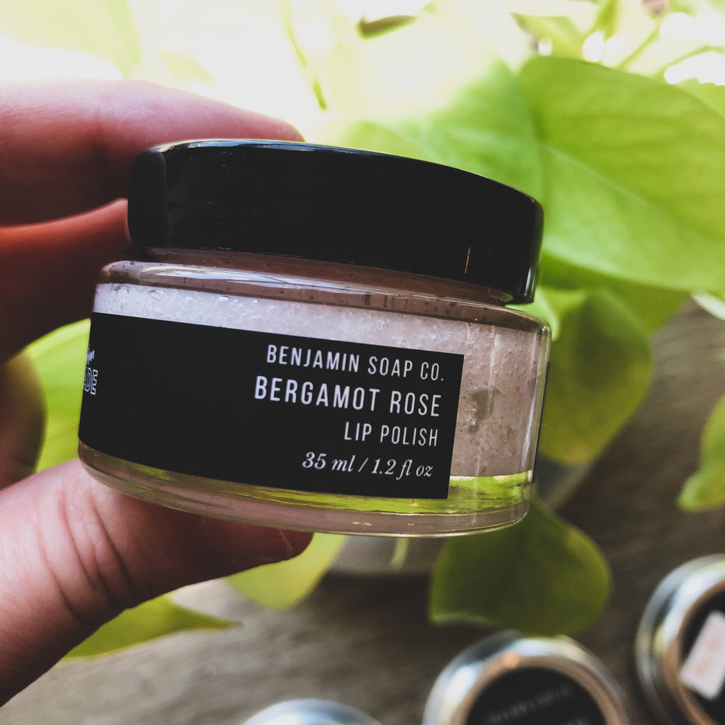 Benjamin Soap Co. // Lip Scrub- Bergamot Rose
