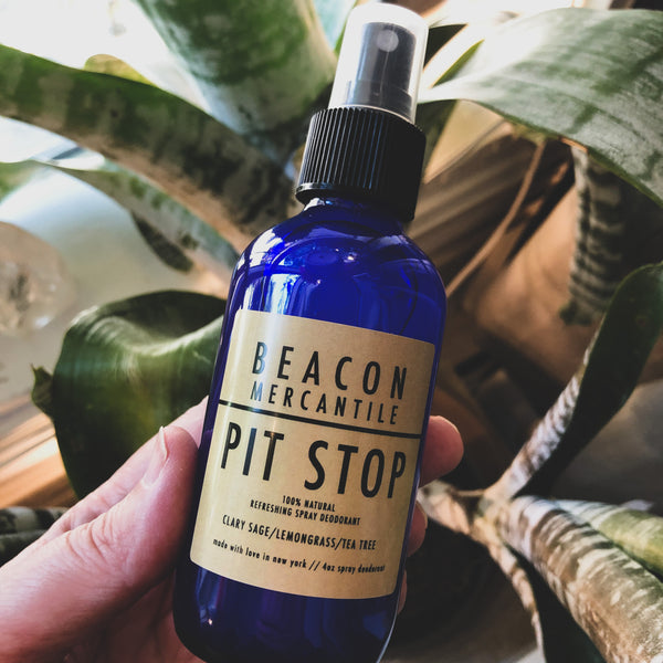 Pit Stop- Natural Deodorant with Clary Sage, Lemongrass, and Tea Tree
