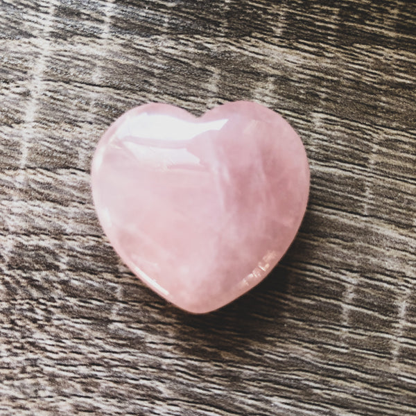Rose Quartz Heart