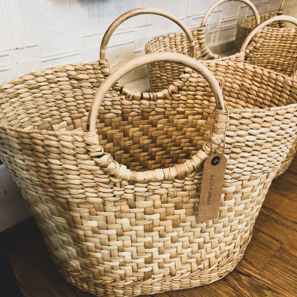 SALT + UMBER // Handwoven Straw Tote