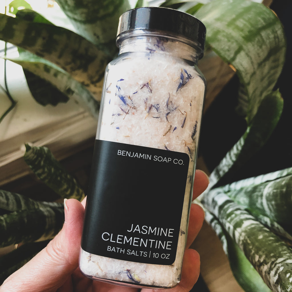 Benjamin Soap Co. // Bath Salts- Jasmine Clementine