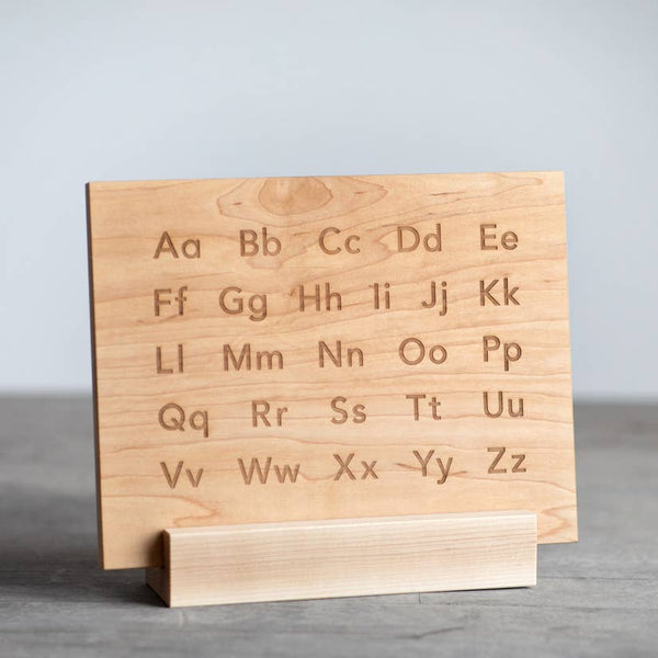 wooden alphabet board