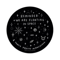 we are stars floating sticker