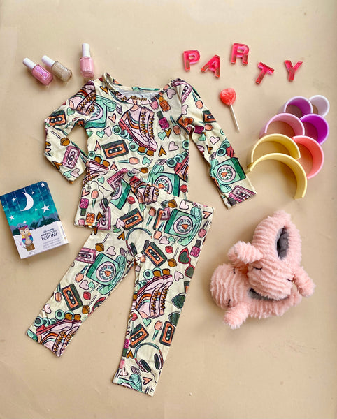 retro pajama party jammies: kids