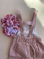 Dusty Pink Corduroy Overalls