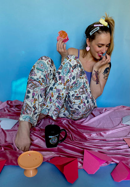 retro pajama party jammies: adult
