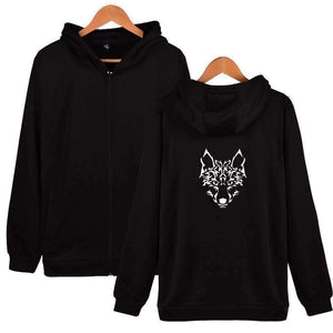 WoLf FuSiOn Hoodies & Sweatshirts Black / S WOLF™ PRINTED COOL ZIPPER HOODIES (MEN/WOMEN)
