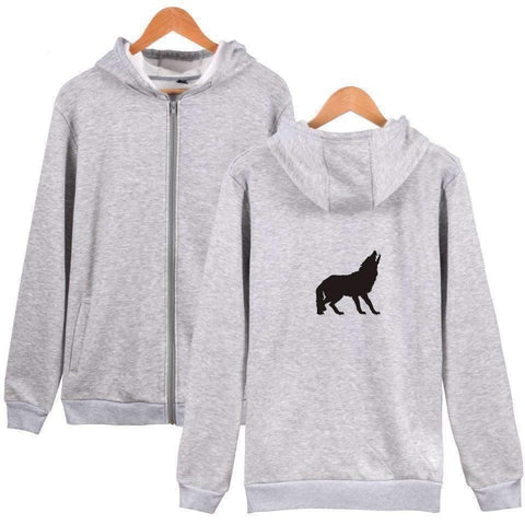 Image of WoLf FuSiOn Hoodies & Sweatshirts Gray / 4XL WOLF™ PRINTED COOL ZIPPER HOODIES (MEN/WOMEN)