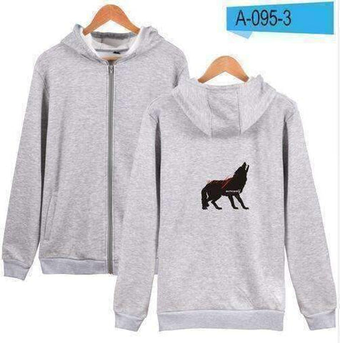 WoLf FuSiOn Hoodies & Sweatshirts Gray / S WOLF™ PRINTED COOL ZIPPER HOODIES (MEN/WOMEN)