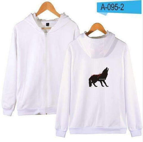 WoLf FuSiOn Hoodies & Sweatshirts White / S WOLF™ PRINTED COOL ZIPPER HOODIES (MEN/WOMEN)