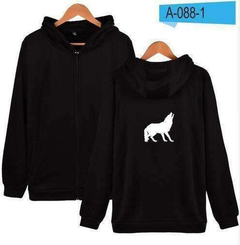 Image of WoLf FuSiOn Hoodies & Sweatshirts WOLF™ PRINTED COOL ZIPPER HOODIES (MEN/WOMEN)
