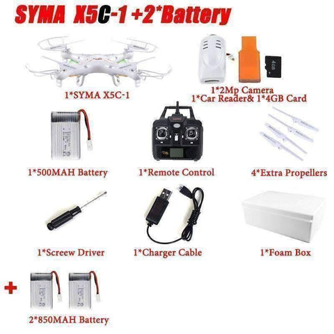 Image of WoLf FuSiOn RC Helicopters Drone™ 6-Axis Remote Control With 2MP HD Camera