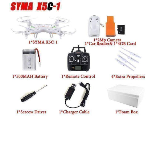 Image of WoLf FuSiOn RC Helicopters X5C 1 battery 2 Drone™ 6-Axis Remote Control With 2MP HD Camera
