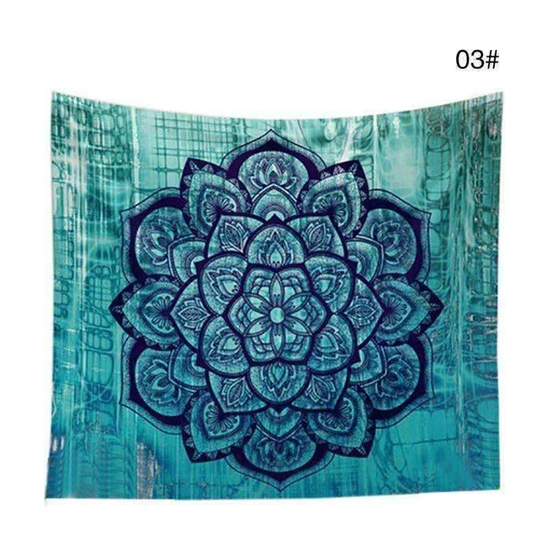 WoLf FuSiOn Tapestry cyan / 210x150cm SUMMER BOHO TAPESTRY™