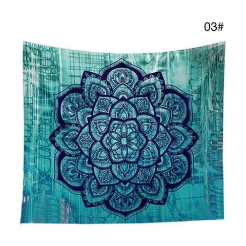 Image of WoLf FuSiOn Tapestry cyan / 210x150cm SUMMER BOHO TAPESTRY™