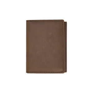 Dark Brown Trifold Wallet - Infinity Parkour