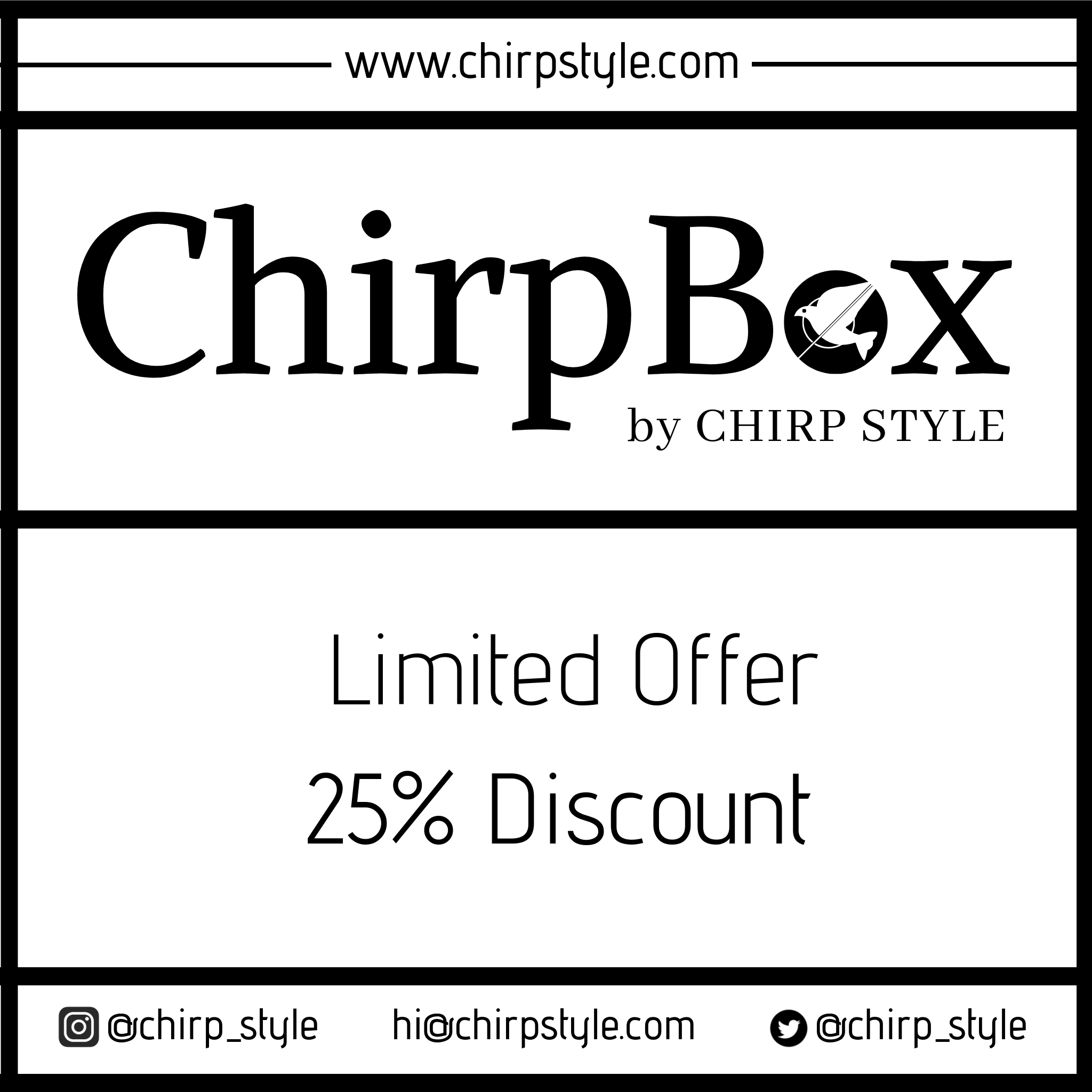ChirpBox™ by Chirp Style - Infinity Parkour