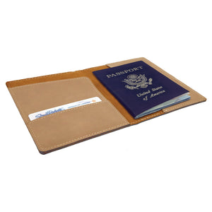 Light Brown Passport Holder - Infinity Parkour