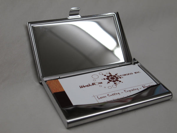 Custom Business Card Holder (Wood) - Worthmore Designs